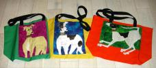 Susan Lewis' Colorful Totes  - Click For Enlargement